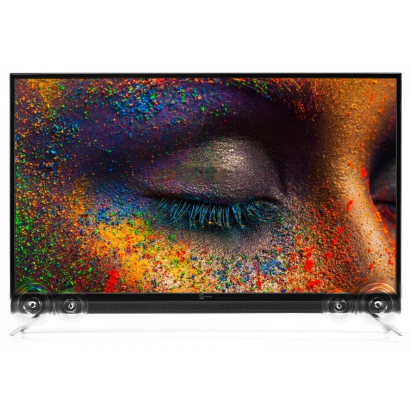Telesystem | 50 inch 4K Smart tv Android met soundbar -