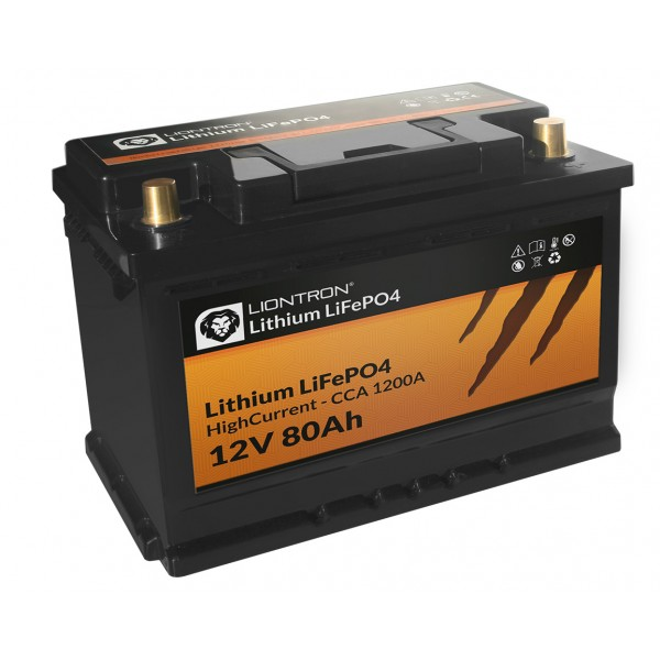 Liontron Lithium 80 ah High Current -