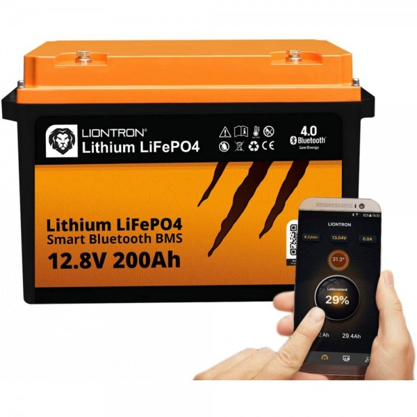 LIONTRON LiFePO4 12.8V 200Ah LX Smart BMS met Bluetooth -